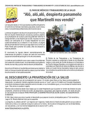 Periódico Arriba los de Abajo - Octubre 2013