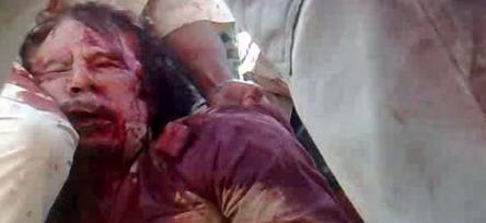 El cuerpo de Kadafi