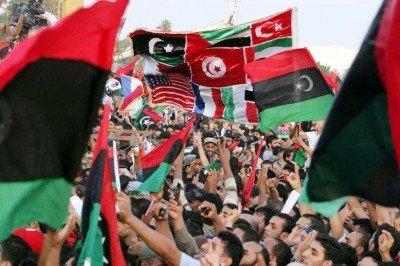 Festejos en Libia