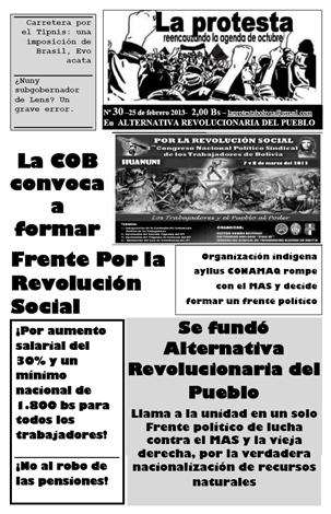 Periódico La Protesta N°30