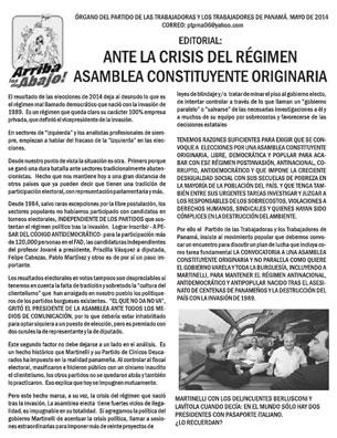 Periódico Arriba los de Abajo - Mayo 2014