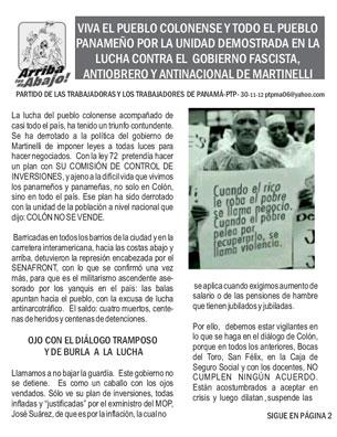 Periodico Arriba los de Abajo Noviembre - Diciembre 2012