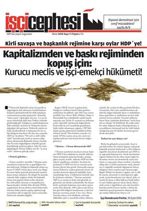Periódico del IDP de Turquía