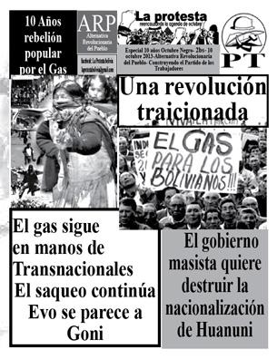 Periódico La Protesta - Boletín Especial a 10 años de la rebelión popular por el gas