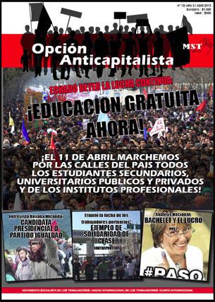 Edición de Abril de 2013 de nuestro periódico Opción Anticapitalista