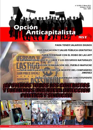 Edición de Marzo de 2013 de nuestro periódico Opción Anticapitalista