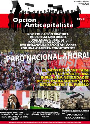 Periódico Opción Anticapitalista - Chile -Mayo 2013