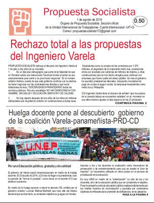 Periódico Propuesta Socialista - Julio 2016