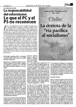 Edición Especial a 40 años del golpe militar de Pinochet