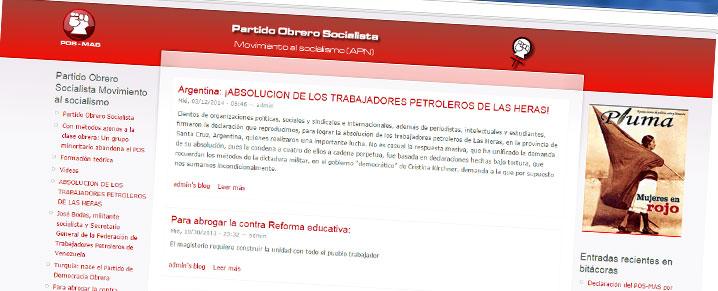 Sitio web del POS-MAS