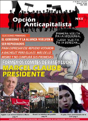 Periódico Opción Anticapitalista - Chile -Julio 2013