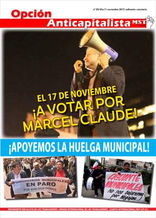 Periódico Opción Anticapitalista - Chile - Noviembre 2013