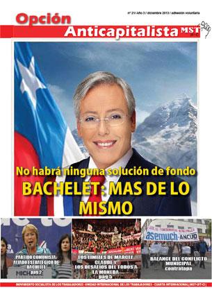 Periódico Opción Anticapitalista - Chile - Diciembre 2013