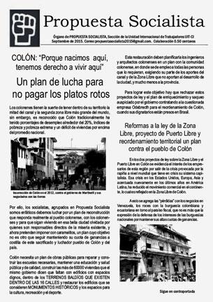 Periódico Propuesta Socialista - Septiembre 2015