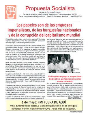Periódico Propuesta Socialista - Abril 2016