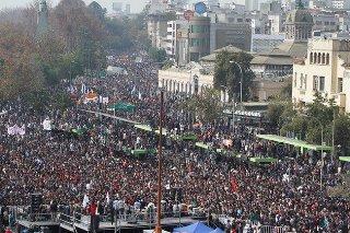 Manifestación estudiantil en Chile 3-4-2012