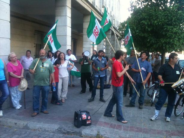 Concentración de protesta por la libertad de Diego Cañamero