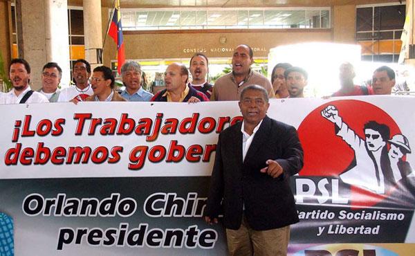 Orlando Chirino: Los trabajadores debemos gobernar!!