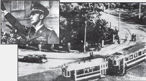 El auto de Heydrich, después del atentado. Reinhard Heydrich murió ocho días después