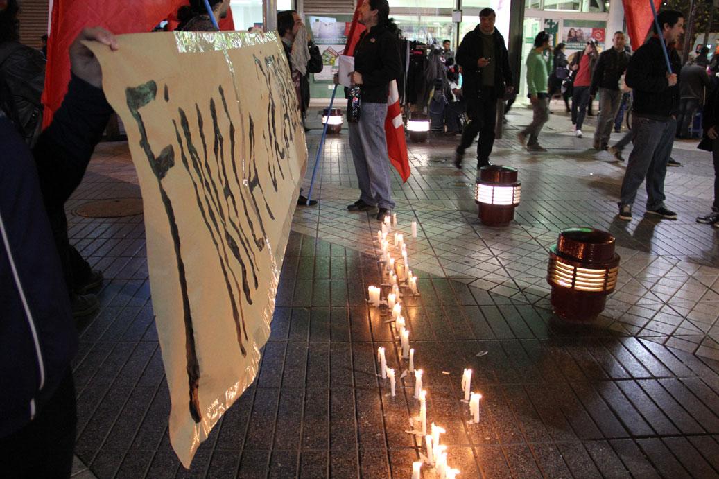 Chile: Velatón en solidaridad con el pueblo rebelde de Siria