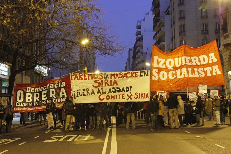 Argentina: Marcha estudiantil y de la izquierda en apoyo al pueblo Sirio