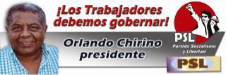 Venezuela: Partido Socialismo y Libertad inscribe la candidatura presidencial de Orlando Chirino