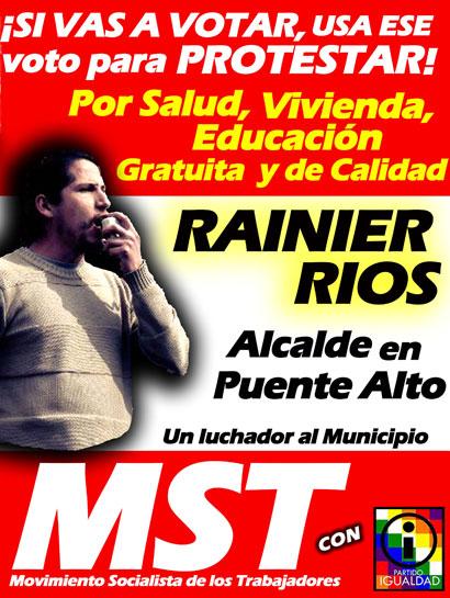 Chile: Rainier Rios candidato a Alcalde la comuna de Puente Alto