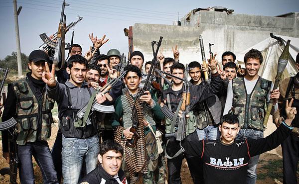 Siria: jóvenes milicianos del Ejército Libre de Siria