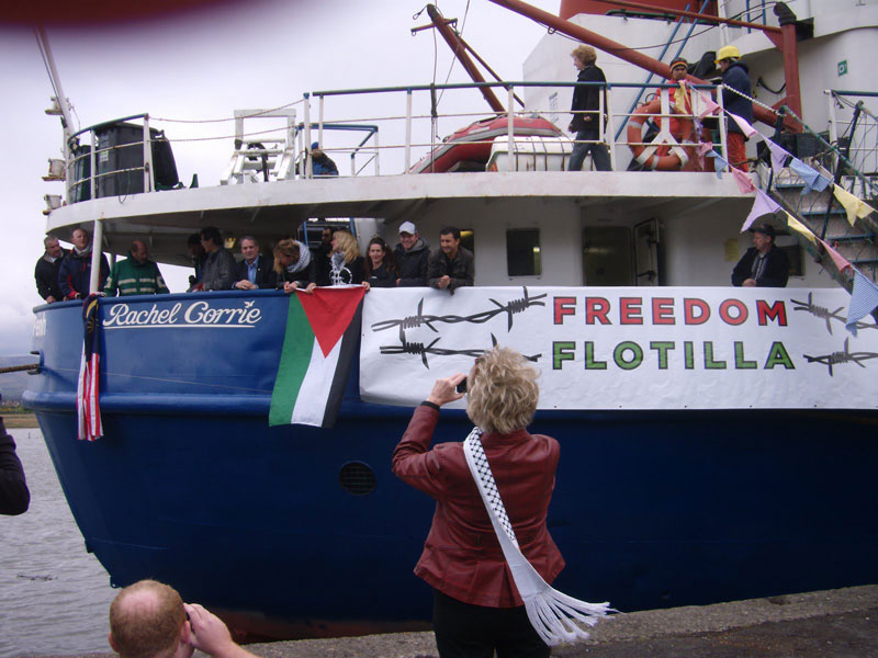 Rachel Corrie: bautizaron con su nombre al barco de bandera irlandesa que acompañó al Mavi Marmara en la 1° Flotilla de la Libertad en 2010