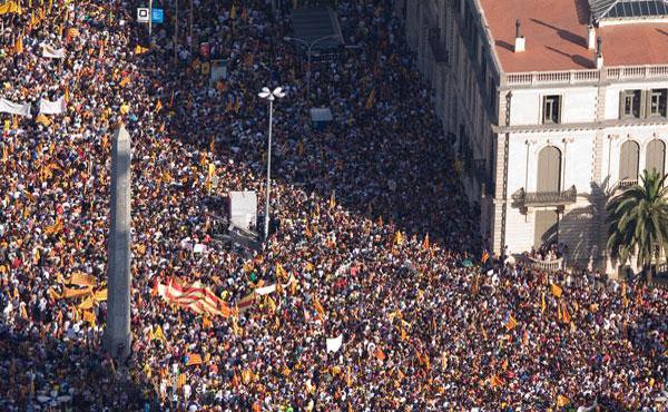11 de septiembre en Catalunya, la Diada, día en que conmemoran la pérdida de la independencia.