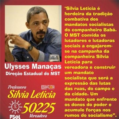 Movimiento Sin Tierra apoya a Silvia Leticia