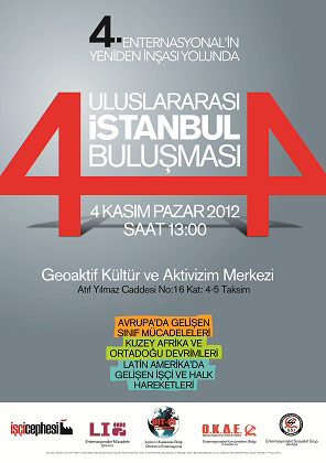 Afiche de convocatoria al Encuentro Internacional en Estambul, Turquía