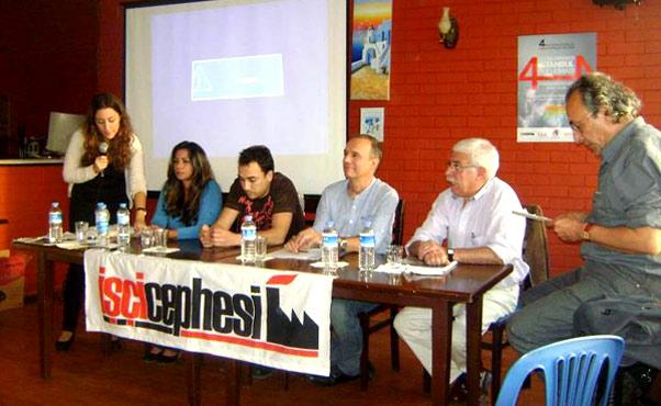 Mesa del Encuentro y acto obrero Internacional