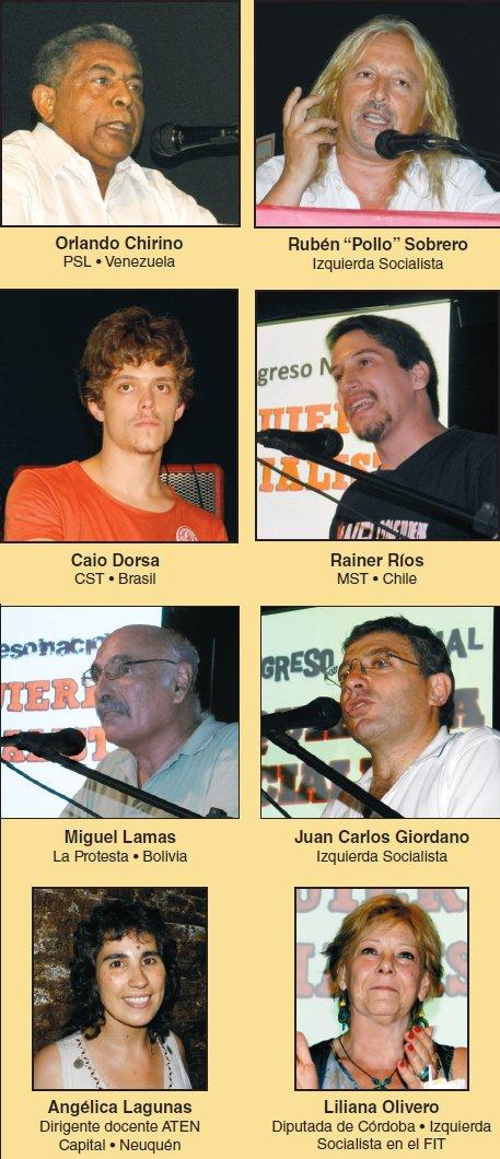 III Congreso de Izquierda Socialista - Presencias internacionales