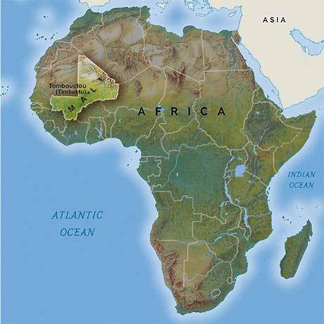 Ubicación de Mali en el mapa