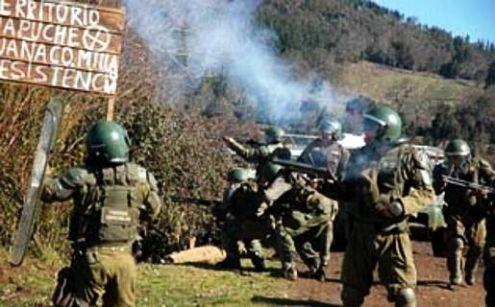 Chile: el gobierno de Piñera nuevamente reprime al pueblo mapuche que pelea por sus tierras arrebatadas.