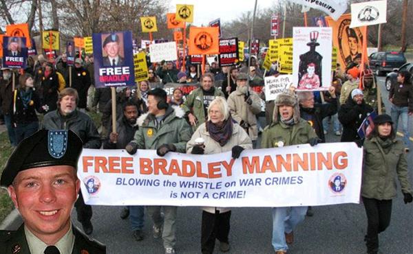 Marcha en EstadosUnidos exigiendo la libertad para el soldado Bradley Manning