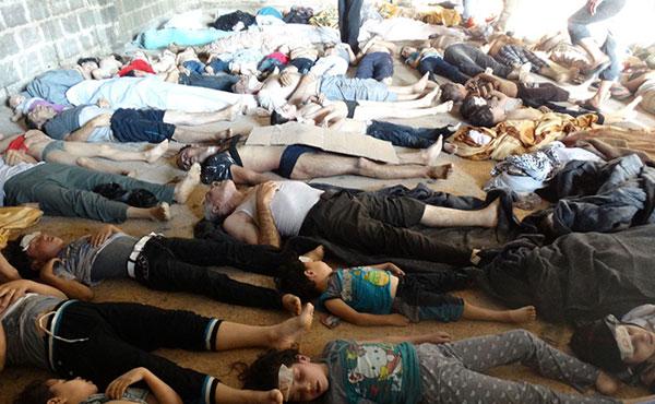 La furia de la dictadura siria ha cobrado más de mil nuevas víctimas civiles de un barrio rebelde de Damasco.