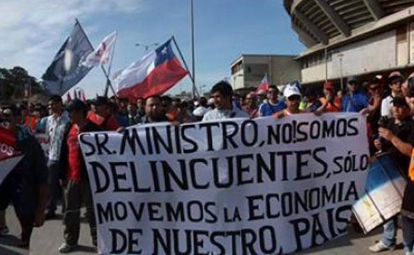 Chile ¡Viva la gran huelga de los portuarios!