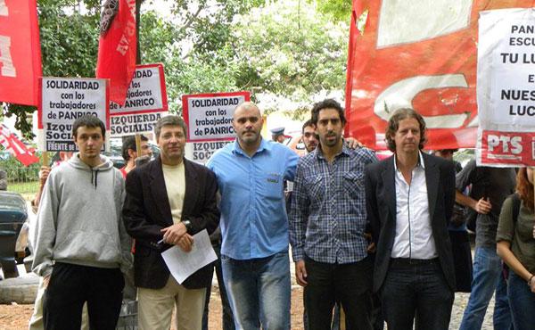 Solidaridad con los trabajadores de Panrico en la Embajada del Estado Español en Argentina