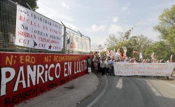 20 de marzo Jornada internacional en apoyo a la huelga de Panrico en Santa Perpetua, Barcelona.