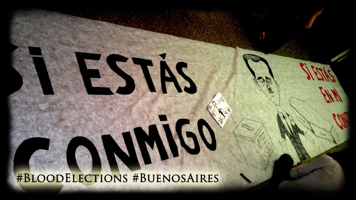 Actividad en Buenos Aires de repudio a las Elecciones de Sangre en Siria