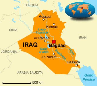 Irak: 32 millones de habitantes. Su gobierno presidido por Al Maliki es aliado de Irán y de Estados Unidos