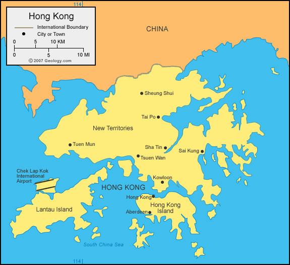 Hong Kong tiene 7 millones de habitantes en apenas 1102 km cuadrados.