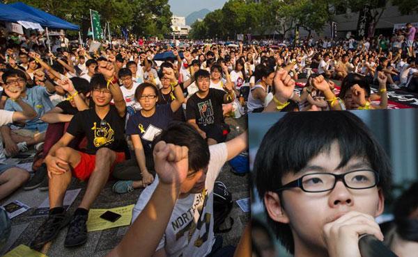 Joshua Wong, de 17 años