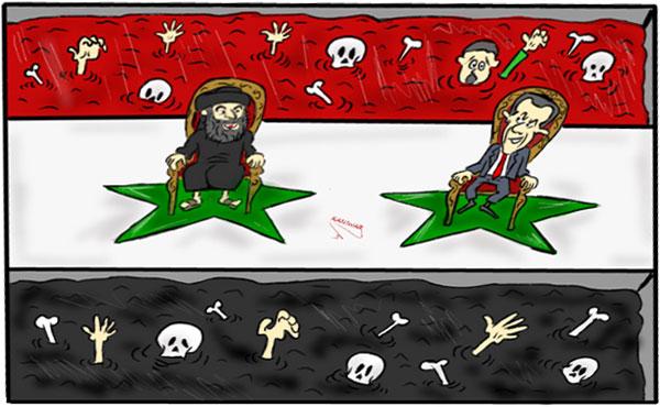 El Estado Islámico, Assad y EEUU son hermanos siameses; para librarse de uno hay que librarse de los tres.