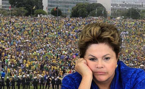 Las movilizaciones masivas ocuparon las calles y plazas de las principales ciudades la pasada semana, repudiando al gobierno de Dilma Russeff.