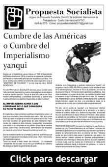 Decarga la versión en PDF del periódico Propuesta Socialista - Abril de 2015