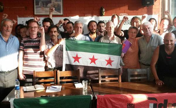 Apoyo incondicional con la revolución del Pueblo Sirio por libertad y por el fin del régimen genocida del dictador Al Assad, No al imperialismo y No al ISIS