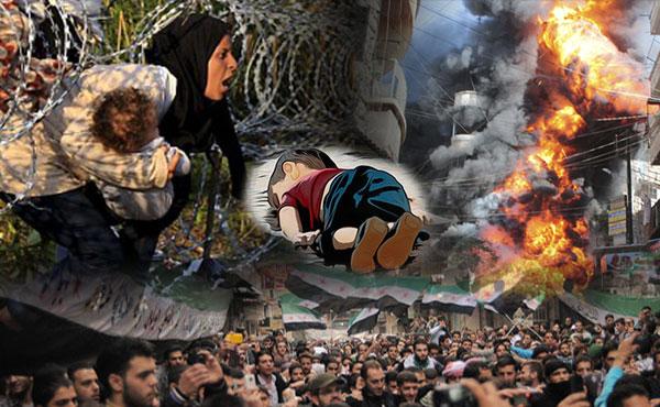 Asilo ya a los refugiados. No a las restricciones de la UE Apoyemos al pueblo en lucha sirio. Abajo Bashar Al Assad. No al ISIS y a la intervención imperialista